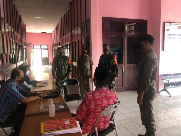 SIDAK TNI DAN SATPOL PP TENTANG PENERAPAN PROTOKOL KESEHATAN COVID-19 DI DINAS KEPENDUDUKAN DAN PENCATATAN SIPIL KABUPATEN SERUYAN